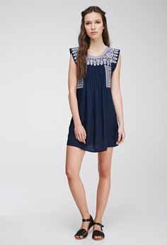 Embroidered Peasant Dress | FOREVER21...earn cash back on this with StuffDOT!