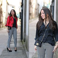 Discover and organize outfit ideas for your clothes. Decide your daily outfit with your wardrobe clothes, and discover the most inspiring personal style Zara Bags, Zara Shirt, Pull On Pants, Pants Outfit, Striped Pants, Everyday Outfits, Dress To Impress, Shirt Style, What To Wear