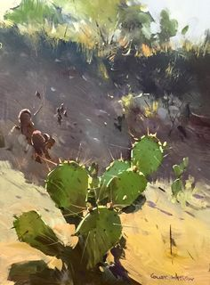 Colley Whisson     Tucson Shadows. Oil