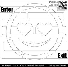 Heart Eyes Maze Coloring for adults FREE TO PRINT