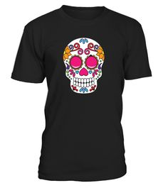 Great costume party shirt to celebrate the Mexican Day Of The Dead Dia de Muertos holiday.   Make your festiva or fiesta cool with this colorful party Day of the Dead Tshirt