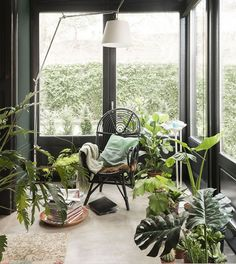 """Nouveau romantisme"". Fill your home with plants. GREENERY is 2017 pantone color of the year. Image by CASA VOGUE via http://www.designlovefest.com"