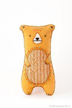 Bear Embroidery Kit Needlework Kit DIY Kit Plushie