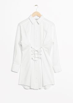 & Other Stories image 1 of Lace-Up Dress in White