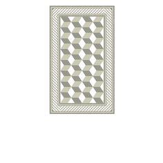 Tapis Vinyle - Bauhaus - Beige & Gris - 70 x 120 cm - Beija Flor