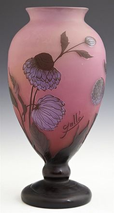 Frosted cameo glass vase, late 20th century.