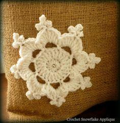 Snowflake, μία χιονονιφάδα βήμα βήμα free pattern