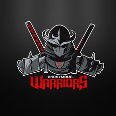"""Warriors Anonymous"" mascot logo based on shredder samurai/ninja type character for fighting esports Logo D'art, Symbol Logo, Art Logo, Logo Branding, Gfx Design, Game Logo Design, Design Kaos, Ninja Logo, Warrior Logo"