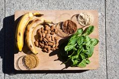 Getting ready for a banana, almond and cacao smoothie #TheArtofEatingWell