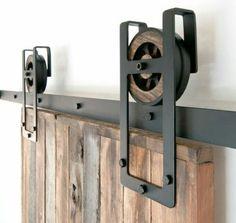 Rustic Industrial Sliding Door