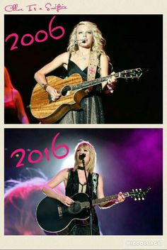 Celebrating ten years of Taylor Swift...my Queen never put her guitar down- Chloe Is a Swiftie.