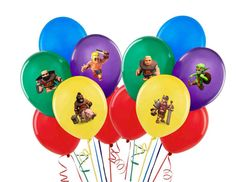 Clash of Clans or Mine Balloon Stickers Decorations by partywow, $4.50