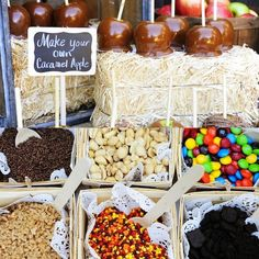 Just in time for fall... a make your own caramel apple bar!