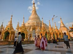 SHWEDAGON PAGODA: Also known as the Great Dragon Pagoda, this awe-inspiring golden structure is one of the most sacred Buddhist sites in Myanmar.