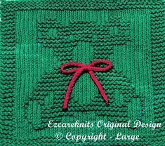 Knitting Cloth Pattern CHRISTMAS BEAR Instant by ezcareknits, $3.00