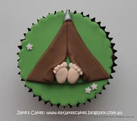 Jake's Cakes: Fishing & camping cupcakes (no tutorial, just a super cute design.)