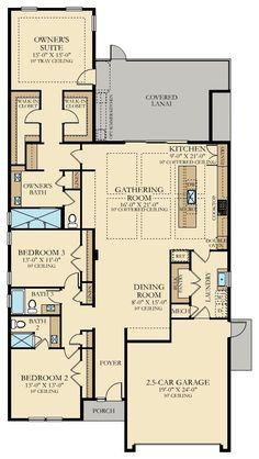 Canary New Home Plan in Beachwalk: Dorado by Lennar Narrow House Plans, Pole Barn House Plans, Pole Barn Homes, New House Plans, Dream House Plans, House Floor Plans, Casa Stark, Florida, Arquitetura