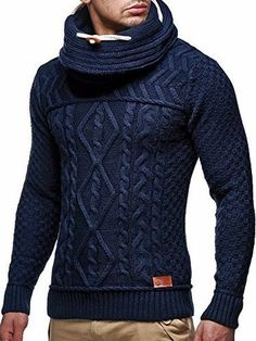 LEIF NELSON Men's Knitted Pullover 7025