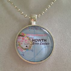 Irish City Map Pendant Necklace by joytoyou41 on Etsy, $20.00