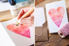 This watercolor birthday card is a must-make.
