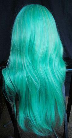 Hair Color Blue, Cool Hair Color, Hair Colors, Pastel Colors, Teal Hair, Mint Green Hair, Pastel Mint, Crazy Colour Hair Dye, Dyed Hair Blue