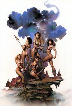 Boris Vallejo-fantasy artist. Cover art for Conan, Flash Gordon, &  Molly Hatchet album