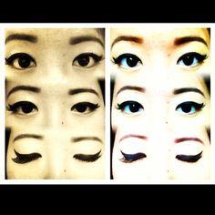 tifffwonggg:  Yeah, keep lookin'. #eyes#eyelashes#eyebrows#falsies#makeup#flare#selfie#potd#monolid