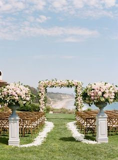 White outdoor wedding aisle runner for ideas . outdoor turf wedding aisle runner white an . Wedding Aisle Decorations, Wedding Altars, Wedding Arrangements, Church Decorations, Floral Arrangements, Table Arrangements, Wedding Church Aisle, Wedding Aisle Outdoor, Arch Wedding