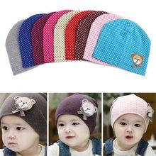 Baby Hat 2016 Spring Baby Cap Kids Costume Cotton Dot Baby Beanie Cartoon Bear Infant Girls Boys Cap Baby Hats Accessories(China (Mainland))
