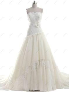 Lace wedding dress beach wedding dress