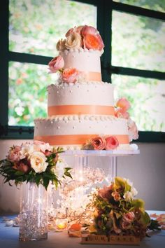 Coral Flower Table Arrangements | The following Northern California vendors contributed to Joyce and ...