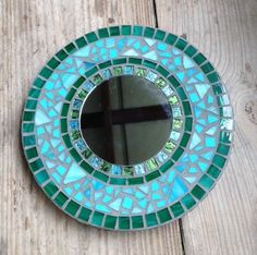Stained Glass Mosaic Mirror Teals & by SunriseMosaicsbyBeth, $65.00