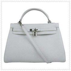 hermes kelly bag, white hermes kelly. White Silver Hermes Kelly 32cm Bag  $247.00