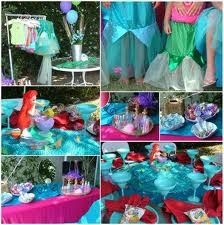 a little girl mermaid party