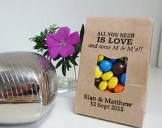 Rustic Wedding Favor Bags-LOVE AND M & M's-Kraft Bags with Window-Rustic Wedding Ideas-Wedding Favors-Rustic Wedding-Weddings