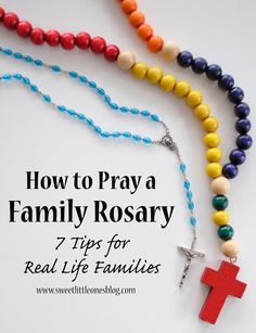 """Jessica: """"my parents always said, 'We get to pray the Rosary, go to Mass, go to Adoration, etc."""" Lead by your positive and joyous example! Praying The Rosary, Holy Rosary, Good Luck Necklace, Evil Eye Necklace, Catholic Kids, Catholic Prayers, Francis Of Assisi, St Francis, Wreath Crafts"""