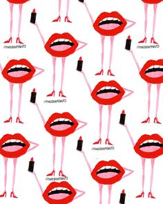 Lips With Lipstick.