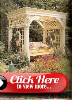 Oh, what a lovely addition to the backyard gardens. The perfect spot for a nap or reading a good book. Drool… - All For Garden Dry River, Pergola Swing, Good Books, Gardens, Backyard, Dreams, Reading, Patio, Outdoor Gardens