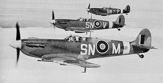 Spitfires in formation