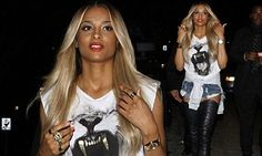 Ciara flaunted the well-deserved effect of her workouts - channelling her inner dominatrix in sexy thigh-high boots as she stepped out in Hollywood in the early hours of Sunday morning