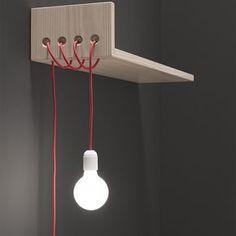 CIPÓ PRATELEIRA C/LUMINÁRIA 100X25 DIR. - Tok&Stok Hardwood Furniture, Cheap Furniture, Furniture Nyc, Retro Lamp, Ceramic Light, Wooden Lamp, Home Gadgets, Light Project, Creative Home