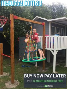 The kids are loving their new cubby so much. It's so wonderful to see them playing happily together outside :)    #myCubby #Cubby #CubbyHouse #playhouse #PlayIdeas #OutsidePlay #BackyardPlay #Christmas #ChristmasPresent #DreamCubby #CubbyInspo #InterestFree
