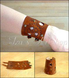 Steampunk Leather Cuff II