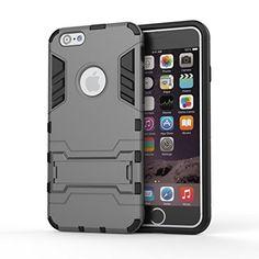 Grey MarsTech iPhone6 Plus iPhone 6S Plus ハイブリッド アーマー ケース カバ 2層構造 グレー grey アイフォン 6 プラス