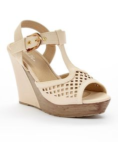 Nude Cutout Corrine Wedge Sandal #zulily #zulilyfinds