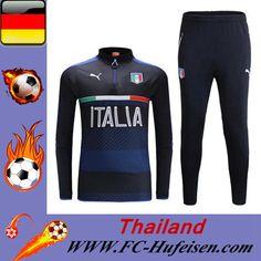 Schönsten Billige Trainingsanzüge Fussball Herren Kits Italien Schwarz Saison 2016 2017 Günstig Online Shop