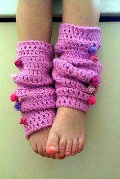 Crochet leg warmers: free pattern