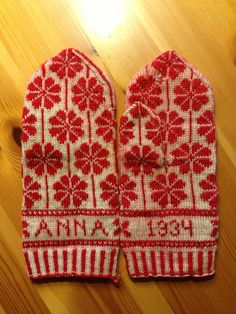 The mittens my grandmother made when she was twenty years old. Glad to have them.