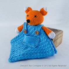 Fox security blanket crochet pattern by one and two company $3.99