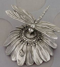 Silverplated Music Box Dragonfly